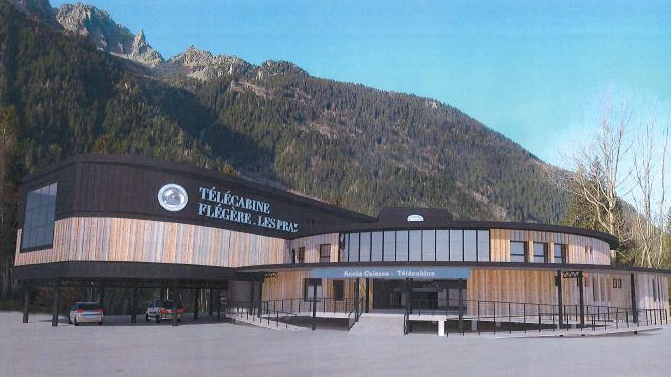 New Flegere lift base station